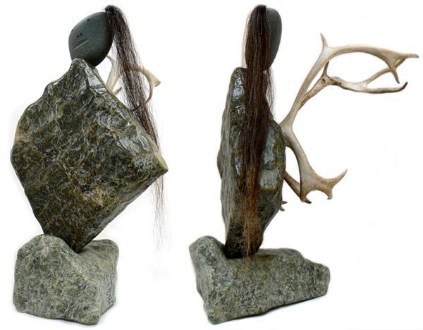 Inuit sculpture art bearclaw gallery edmonton