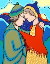 Awakening painting (print) by Daphne Odjig